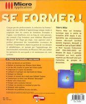 Windows xp toutes versions - se former ! - 4ème de couverture - Format classique