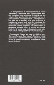 Congélations et décongélations - 4ème de couverture - Format classique