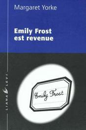 Emily Frost Est Revenue - Intérieur - Format classique