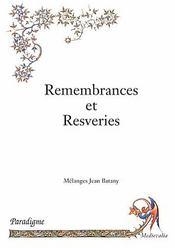Remembrances et resveries - Intérieur - Format classique