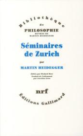 Séminaires de Zurich - Couverture - Format classique