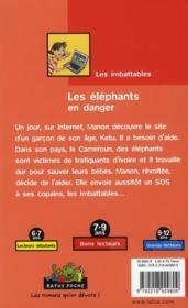 Les éléphants en danger - 4ème de couverture - Format classique