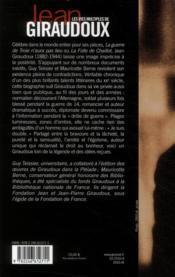 Les vies multiples de Jean Giraudoux ; chroniques d'une oeuvre - 4ème de couverture - Format classique