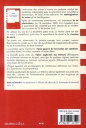 Droit de l'exécution des peines (4e édition) - 4ème de couverture - Format classique