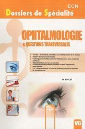 Ophtalmologie & questions transversales - Couverture - Format classique