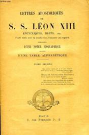 Lettres Apostoliques De S.S. Leon Xiii, Encycliques, Brefs, Etc., Tome Ii - Couverture - Format classique
