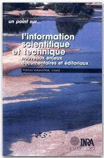 L'information scientifique et technique - Couverture - Format classique