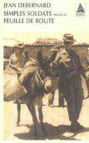 Simples soldats precede de feuille de route babel 742 - Intérieur - Format classique