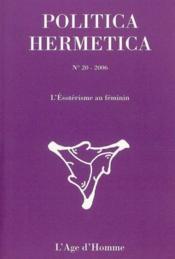 L'ésotérisme au féminin - Couverture - Format classique