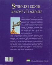 Les Symboles Et Les Decors Des Maisons Villageoises - 4ème de couverture - Format classique