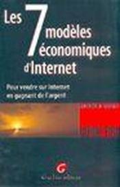 Revenu com. : les 7 modeles economiques d'internet - Couverture - Format classique