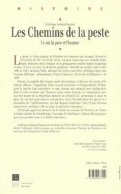 Les Chemins De La Peste ; Le Rat La Puce Et L'Homme - 4ème de couverture - Format classique