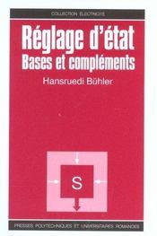 Reglage d'etat. bases et complements - Intérieur - Format classique