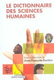 Le Dictionnaire Des Sciences Humaines - Intérieur - Format classique