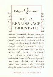 De la renaissance orientale - Intérieur - Format classique