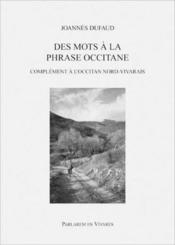Des mots à la phrase occitane - Couverture - Format classique