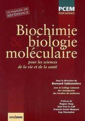 Biochimie et biologie moléculaire - Intérieur - Format classique