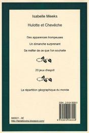 Hulotte et Cheveche - 4ème de couverture - Format classique