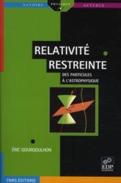 Relativité restreinte - Couverture - Format classique