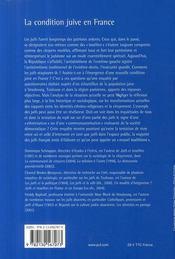 La condition juive en France ; la tentation de l'entre-soi - 4ème de couverture - Format classique