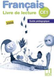 Français ; livre de lecture ; CE1 ; guide pédagogique - Couverture - Format classique