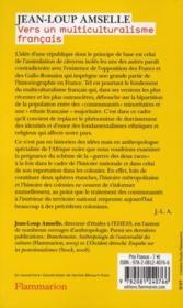 Vers un multiculturalisme français - 4ème de couverture - Format classique