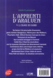 L'apprenti d'Araluen t.9 ; la traque des bannis - 4ème de couverture - Format classique