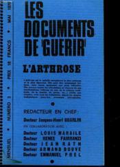 Les Documents De Guerir - N°3 - L'Arthrose - Couverture - Format classique