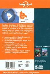 Bolivie ; 1e Edition - 4ème de couverture - Format classique