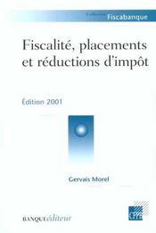 Fiscalite Placements Et Reductions D'Impot 2001 - Intérieur - Format classique