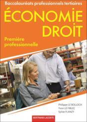 Économie, droit ; 1ère professionnelle ; livre de l'élève - Couverture - Format classique