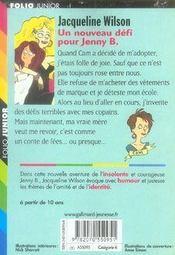 Un nouveau défi pour jenny b. - 4ème de couverture - Format classique