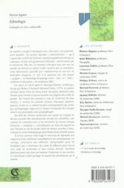 Ethnologie ; concepts et aires culturelles - Couverture - Format classique