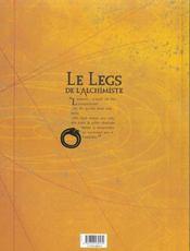 Le legs de l'alchimiste t.2 ; leonora von stock - 4ème de couverture - Format classique