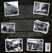 Garages, ambiances d'hier - 4ème de couverture - Format classique