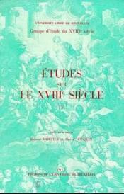 Etudes Sur Le 18e Siecle - Couverture - Format classique