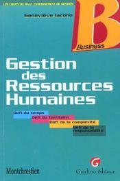 Gestion des ressources humaines (la) - Intérieur - Format classique