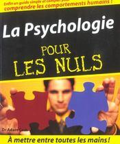 La psychologie pour les nuls - Intérieur - Format classique