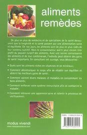 Aliments remedes - 4ème de couverture - Format classique