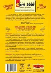 Claridad ; espagnol ; secondaire/BTS/1er cycle ; civilisation, grammaire, vocabulaire (3e édition) - 4ème de couverture - Format classique