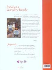 Initiation A La Broderie Blanche - 4ème de couverture - Format classique
