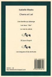 Chams et Leil - 4ème de couverture - Format classique