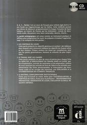 3,2,1 partez ! 2 guide pédagogique + CD - 4ème de couverture - Format classique