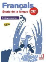Français ; étude de la langue ; CE1 ; guide pédagogique - Couverture - Format classique