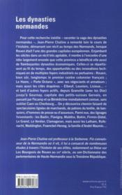 Les dynasties normandes - 4ème de couverture - Format classique