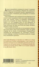 Voyage en Gaule - 4ème de couverture - Format classique
