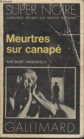 Collection Super Noire N° 41. Meutres Sur Canape. - Couverture - Format classique