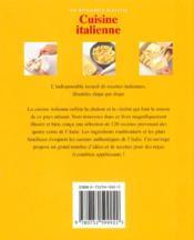 Cuisine italienne - 4ème de couverture - Format classique