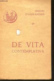 De Vita Contemplativa (N°29) - Couverture - Format classique