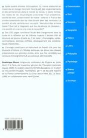 Histoire De La Societe Francaise ; 3e Edition - 4ème de couverture - Format classique